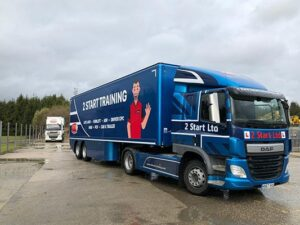 HGV Driver Training Lesson in Arctic and Trailer