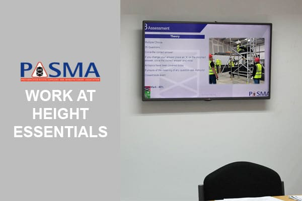 PASMA Work At Height Essentials Training Course