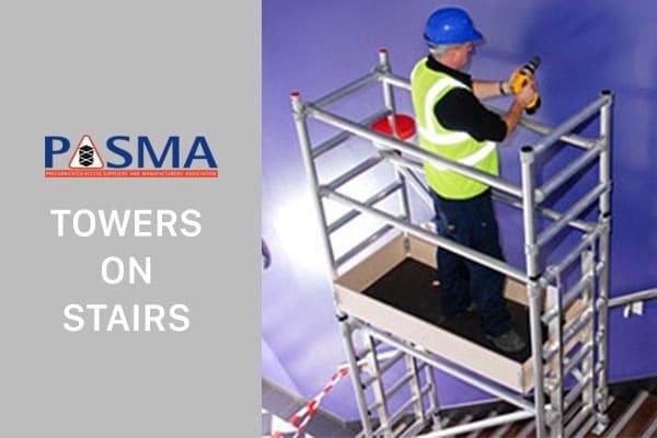 PASMA Towers on Stairs